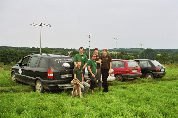Mitarbeiter des Projekt Waschbaer