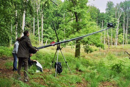 Dreharbeiten über Waschbären im Müritz-Nationalpark