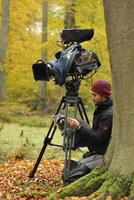 Kameramann Michael Riegler beim Herbstdreh